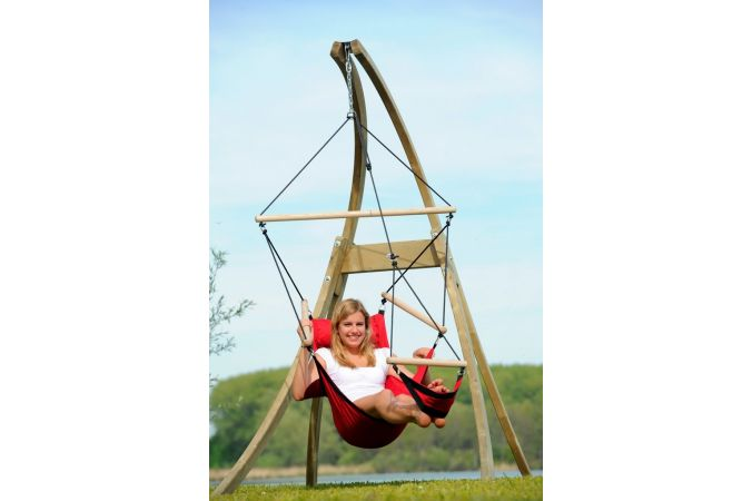 Hamac Chaise Avec Support 'Atlas' Red