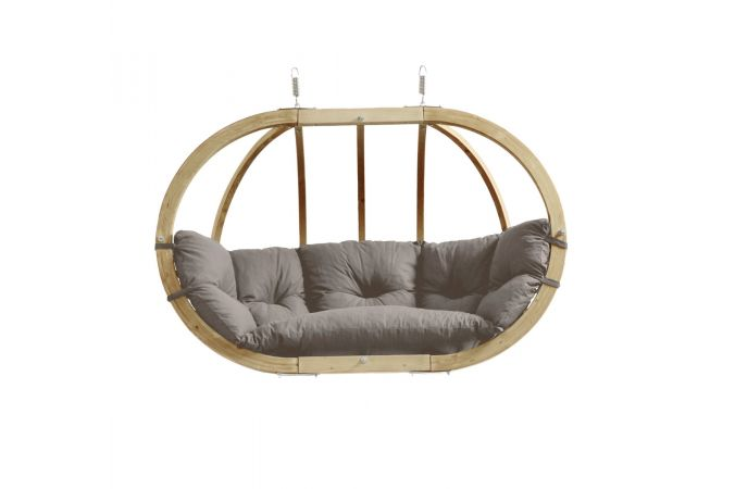 Hamac Chaise 2 Personnes 'Globo Royal' Taupe