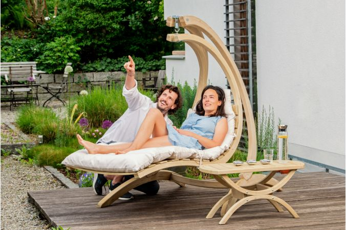 Hamac Chaise 1 Personne 'Swing Lounger' Creme