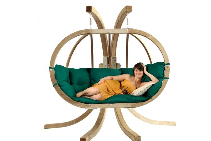 Hamac Chaise Avec Support 'Globo Royal' Weatherproof Green