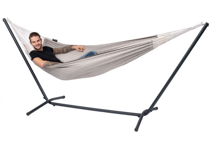 Hamac Avec Support 1 Personne 'Easy & Natural' Brown