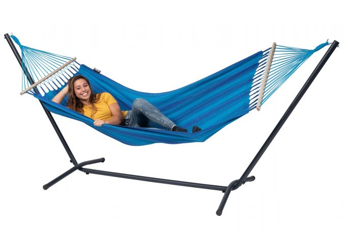 Hamac Avec Support 1 Personne 'Easy & Relax' Blue