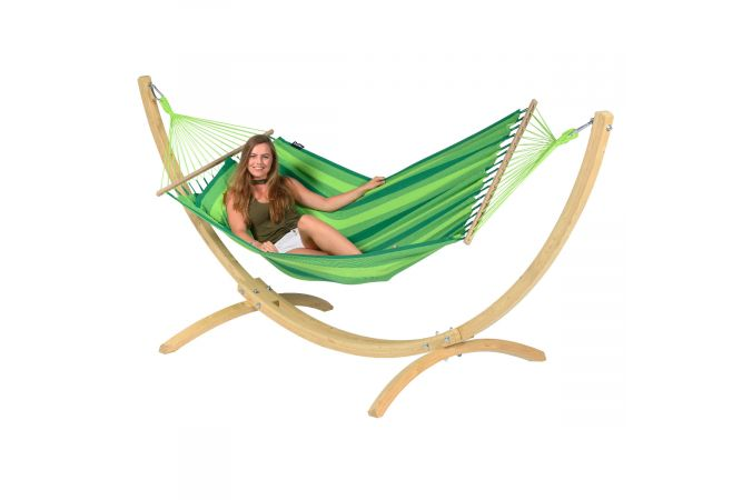 Hamac Avec Support 1 Personne 'Wood & Relax' Green