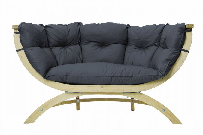 Fauteuil 'Siena Royal' Anthracite