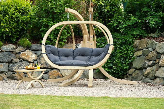 Hamac Chaise Avec Support 'Globo Royal' Anthracite