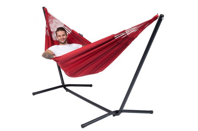 Hamac Avec Support 1 Personne 'Easy & Dream' Red
