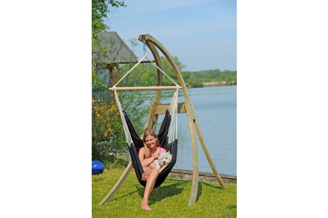Hamac Chaise Avec Support 'Atlas' Black