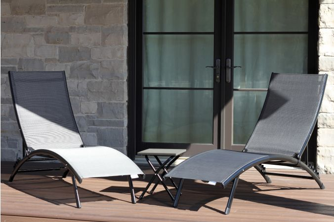Loungeset 'Midtown Sun' Aluminium Grey