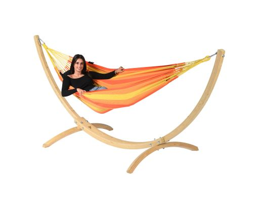 Hamac Avec Support 1 Personne 'Wood & Dream' Orange